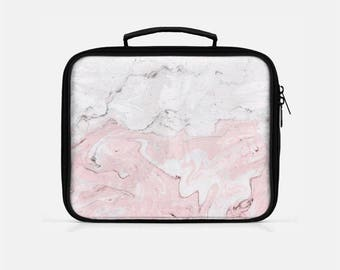 Marble Lunch Box, Pink Lunch Box, Lunch Box for Women, Lunch Box Adult, Marbled Lunch Box, Cute Lunch Box, Lunch Bag for Women,