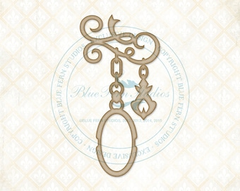 Blue Fern Studios Laser Cut Chipboard Everlasting Dangle 3.4 inches wide  x 6.8 inches tall