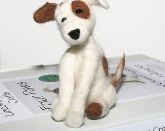 Dog needle felting kit, Needle felted Jack Russell, Needle felting for beginners, Dog lover craft gift