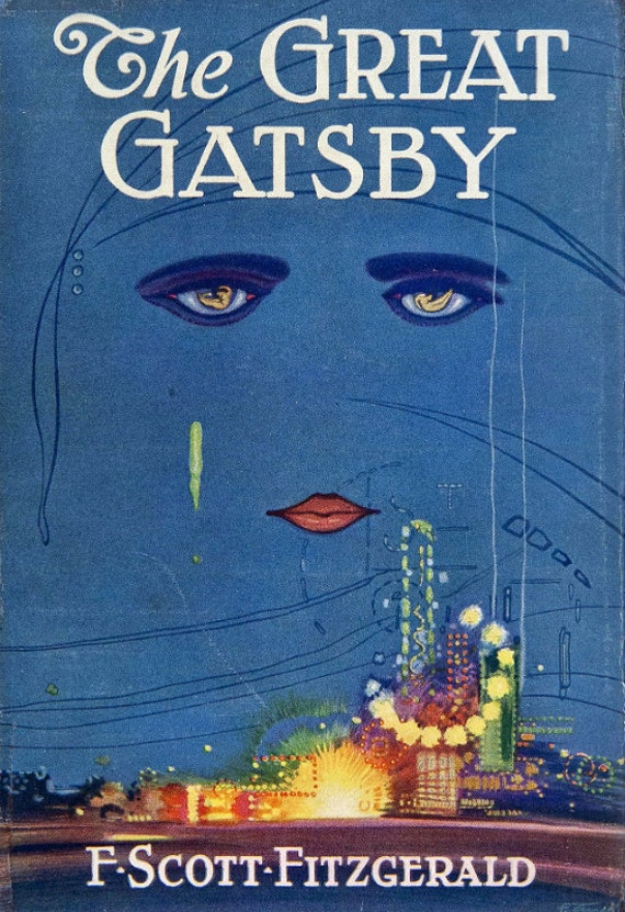 vintage book cover print the great gatsby f