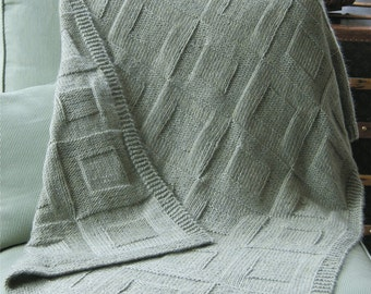 Three Reversible Afghans to Knit PDF Pattern Instant Download