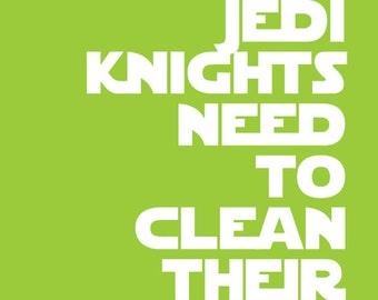 Mix 'n Match 4 Star Wars Quote Prints for Nursery/Boys Room/Jedi Knight - 8x10