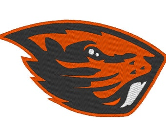 Oregon State Beavers Embroidery Design.  3 Hoop Sizes