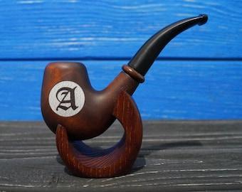 Personalized Monogram Wooden Smoking Pipe, Wedding Gift, Personalized Wooden Smoking Pipe, Custom Engraved Smoking Pipe, SP13