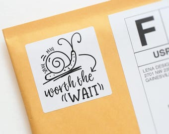 Snail Mail - Happy Mail Stickers - Mailbox Happiness - Product Packaging Stickers - Envelope Label - Pen Pal Stickers - Business Stickers
