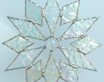 stained glass snowflake suncatcher (design 4C)