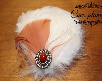 White goose feathers Fascinator