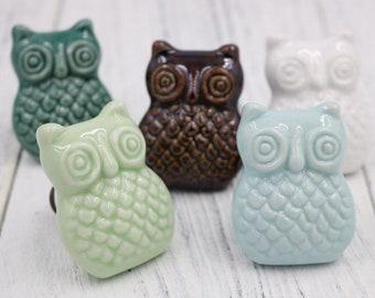 Owl dresser knobs | Etsy
