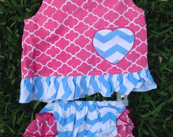 Pink and Blue Swing Top Set