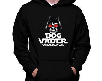 Dog Vader Pembroke Welsh Corgi Hoodie