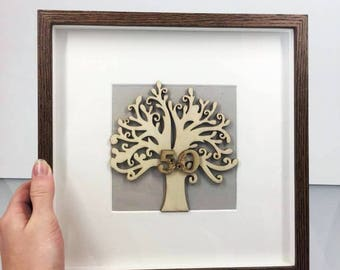 50th Birthday Gift-for-Men 50th Anniversary Gifts, 50th Birthday Party Decorations, Gifts for Husband, Gift-for-DAD, Family Tree, 60th 40th