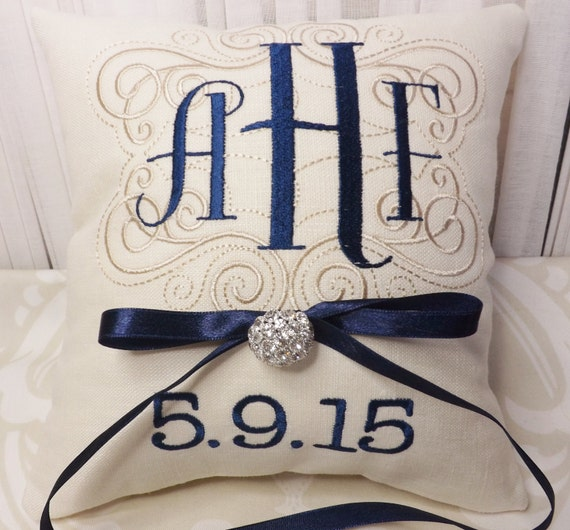 Monogram Wedding Ring Bearer Pillow: Ring Bearer Pillow Monogram Ring Bearer Pillow Monogram