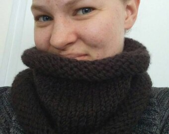 Warm and Cozy Knitted Cowl
