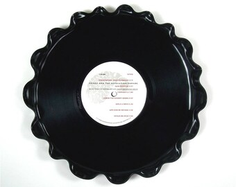 Prince and The Revolution Vinyl Record Tray / Platter Vintage Retro LP Album 1986 ( Under the Cherry Moon) White and Black Label