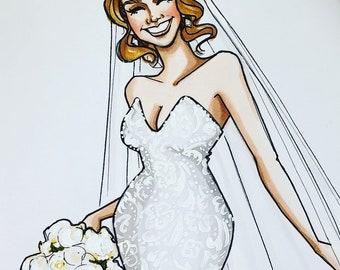Custom Bridal Portrait