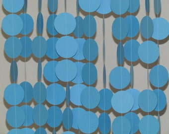2 In. Light Blue Garland