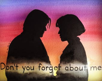 The Breakfast Club original painting . fan-art A4. Don't you forget about me