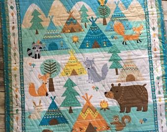 Flannel Baby Animals Quilt