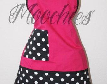polka dot retro apron