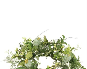 """Mixed Foliage Candle Ring, 6.5"""" Opening"""