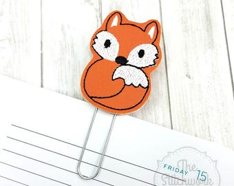 Fox Planner Clip - Woodland Animal - Bookmark - Paperclip - Pick your color!