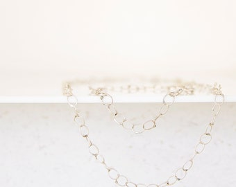 necklace of silver links
