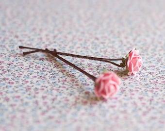 Rose hairpins pack.Flower hairpins. Bridesmaid hair pin.Bridesmaid headpiece.Hair accessories.Spring Wedding  HairPins.Bridal accessories.