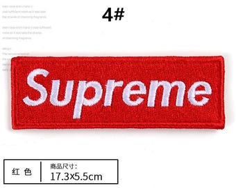 17.3*5.5cm red badges white letters patches,iron on patch,hats patch,high quality patches for sweaters,badges,appliques,