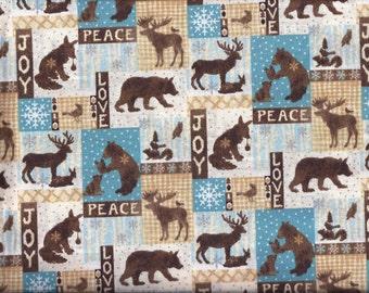 Christmas Valance Woodland Moose Deer Bear curtain