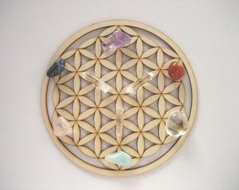 MEDIUM Size. FLOWER of LIFE Wooden Crystal Grid. Flower of Life Grid. Wooden Crystal Grid. Crystal Grid. Wooden Mandala. Wooden Coasters