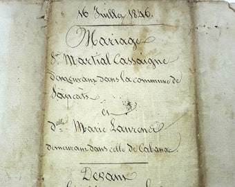 French Antique Manuscripts, French Chic, Wedding Paper, antique French, Old  Documents , Notaires, Handwriting , Curlicues, Old Parchment,