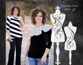 The Edgy Top (Women's Sizes) PDF Sewing Pattern