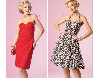 Butterick Pattern B6019 Misses' Sweetheart-Neckline Dresses