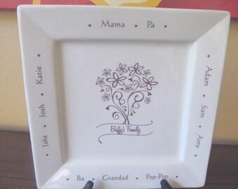 Family Name Custom Platter RUSH LISTING