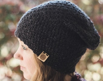 Voyager Slouchy Beanie--Charcoal