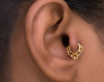 Gold Tragus Piercing. Gold Cartilage Hoop. Helix Earring. Daith Piercing . Cartilage Jewelry. Tragus Earring. Cartilage Earring. Helix Hoop.