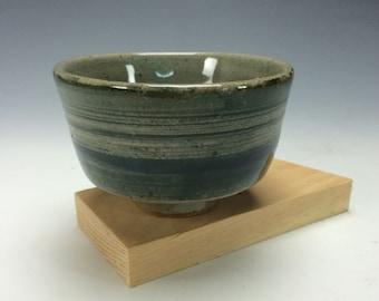 Small Moss Green and Celadon Ceramic Bowl, Kitchen Clay Bowl, Unique Dips Bowl, Modern Home Decor, Mini, Tiny Tea Bowl, Matcha Chawan