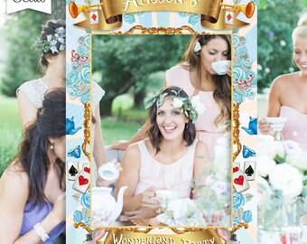 Alice Tea Party, Alice Bridal Shower, Alice Bridal Shower Photo Booth Frame, Wonderland Party Frame, Wonderland Weddding, Digital