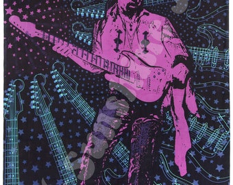 3D Jimi Hendrix 60 x 90 Tapestry wall hanging with FREE 3D glasses