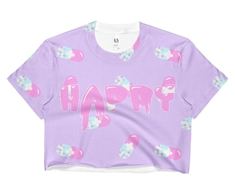 Menhara Happy Pills Crop Top