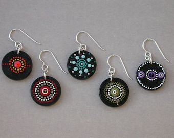 SMaddock Painted Wood Earrings Customized in Your Colors