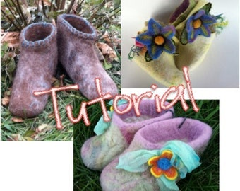 Wet Felted Slipper Tutorial