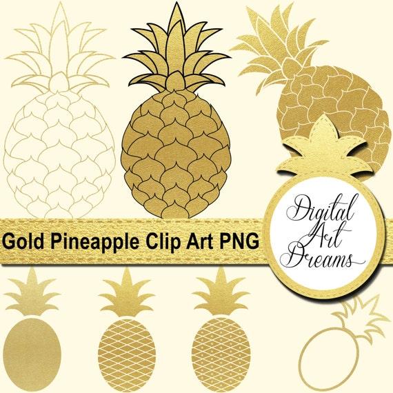 Pineapple Clip Art Gold Pineapples PNG Golden Pineapple