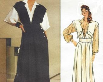 80s Chloe Womens Above Ankle Jumper and Blouse Vogue Paris Original Sewing Pattern 1584 Size 12 Bust 34 FF Vintage Designer Patterns