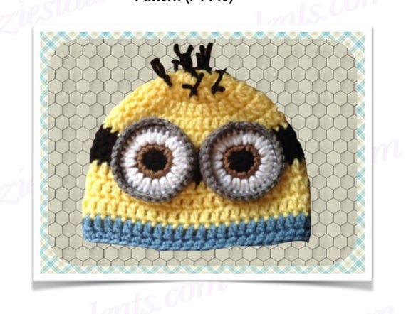 Pt144 0 12 Moths Crochet Minion Hat Pattern Baby Minion