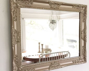 Brilliant Gold Bathroom Mirror, Farmhouse Mirror, Farmhouse Vanity