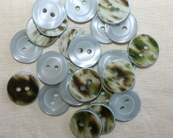 "Special offer! Faux pearl mint buttons 24 ligne 15mm 5/8"" x 100"