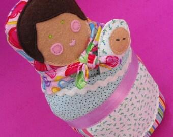 Matryoshka Mom and Baby Doll PDF Sewing Pattern