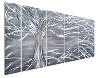 Modern Abstract Painting Metal Wall Art Sculpture Floating Tree