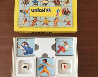 Vintage 1980s Unicef Hand in Hand Board Game - Collectable Charity Game